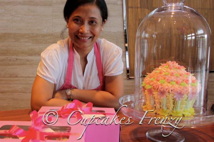 me and giant cupcake