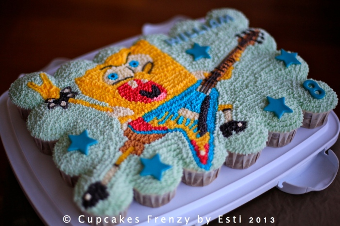 Pull apart cupcakes cake