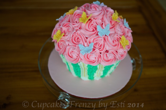 © Esti 2014 Giant Rose Cupcake