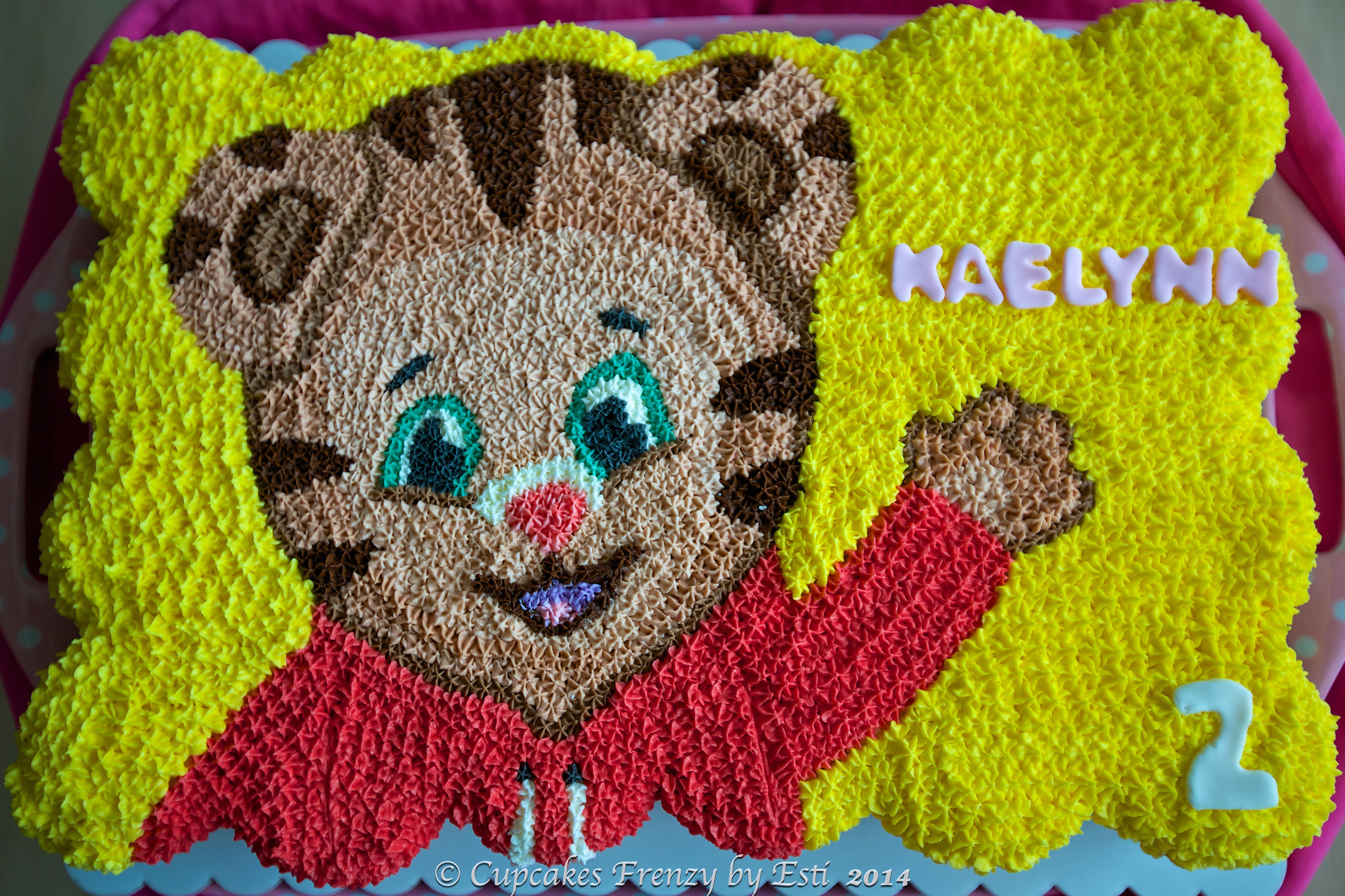 Daniel Tiger Cupcake Cake