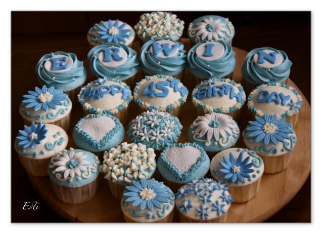 45th bday cupcakes
