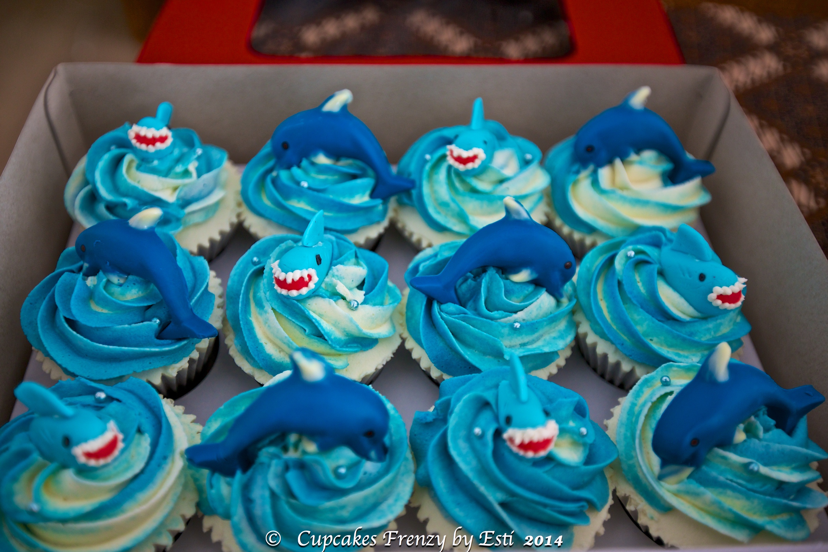 Home Made Baby Shower Decorations Shark Whale Crab Amp Dolphin Cupcakes Frenzy