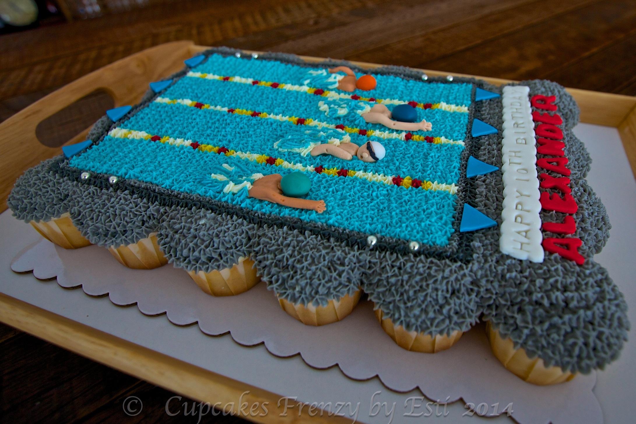Swimming Pool Cupcake Cake Cupcakes Frenzy