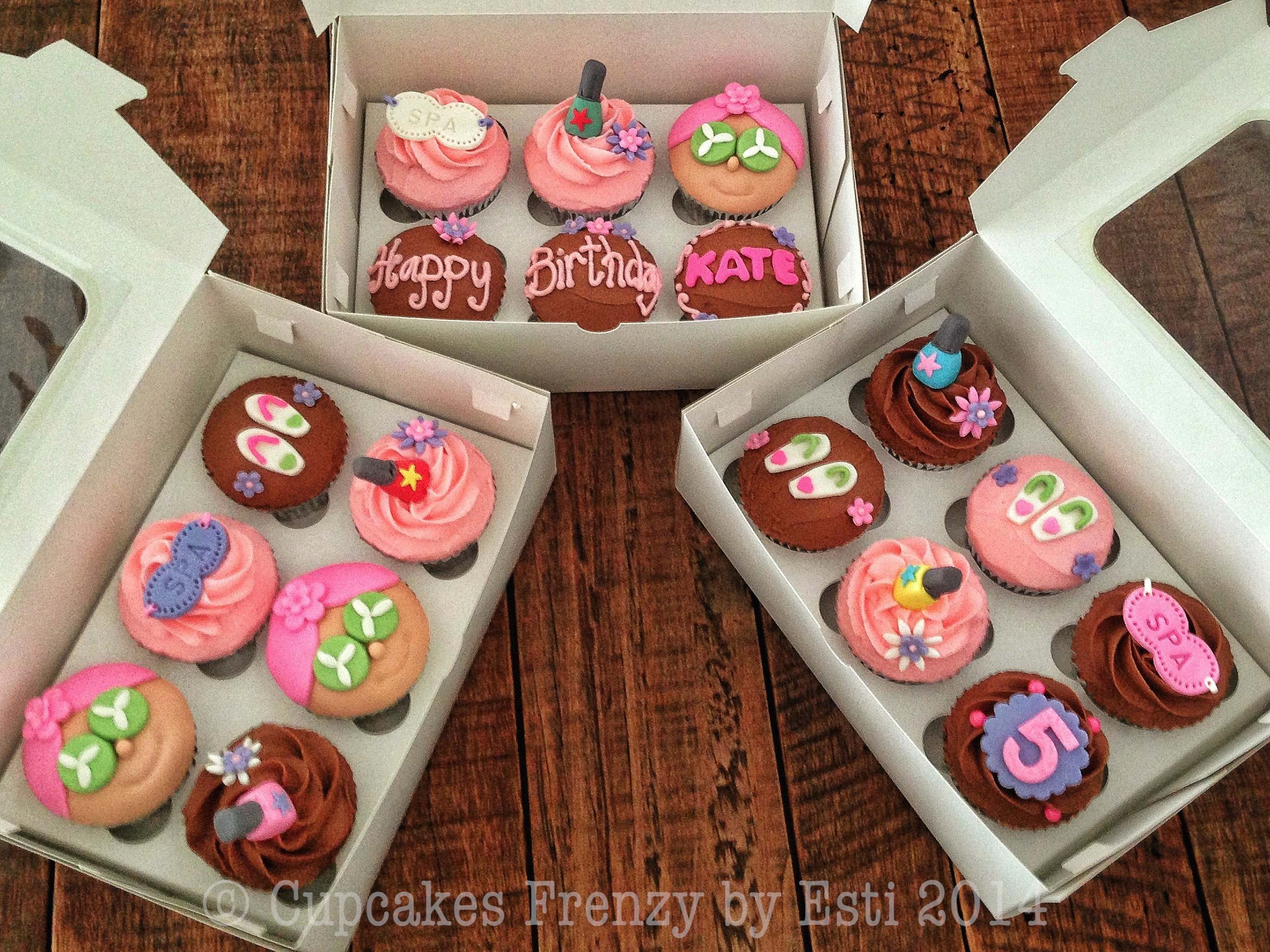 Spa Party Cupcakes Frenzy