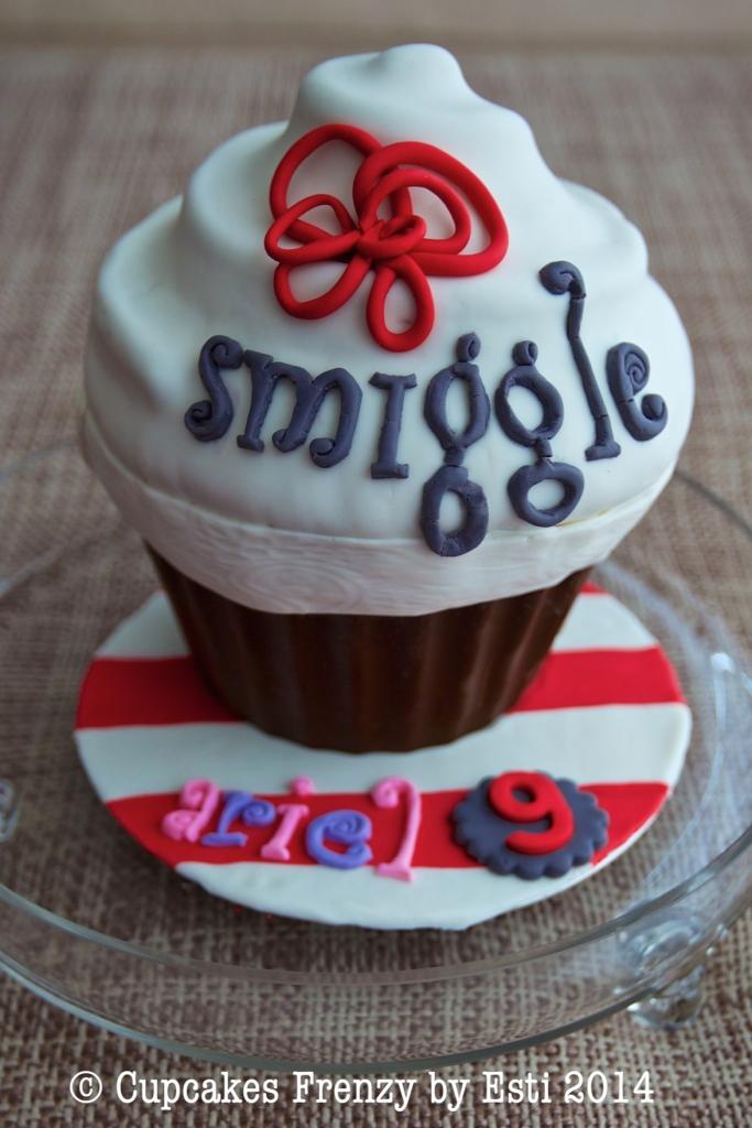 smuggle giant cupcake