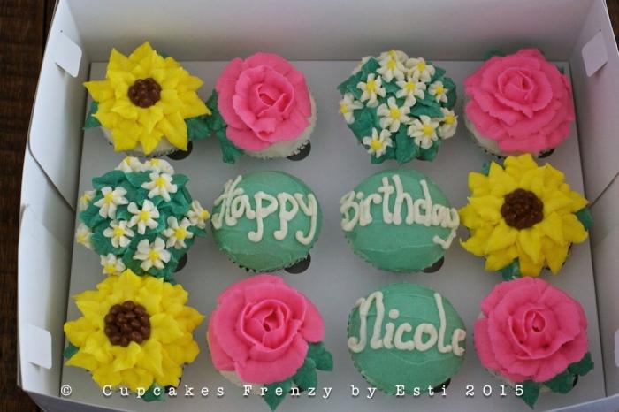 Esti nicole's bday cupcake in box
