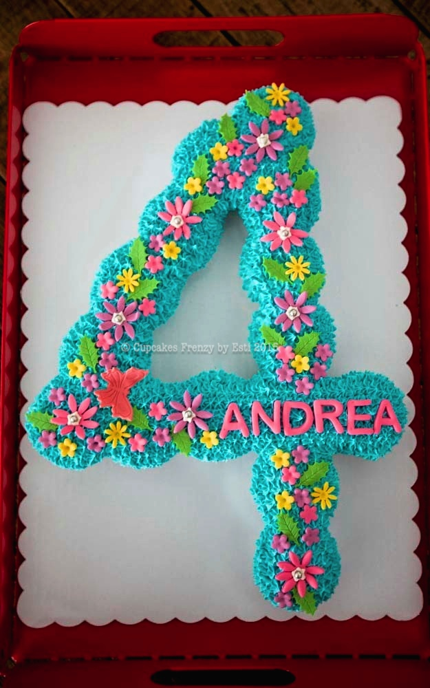 Birthday Cake Ideas Made Out Of Cupcakes : 4 Cupcakes Frenzy