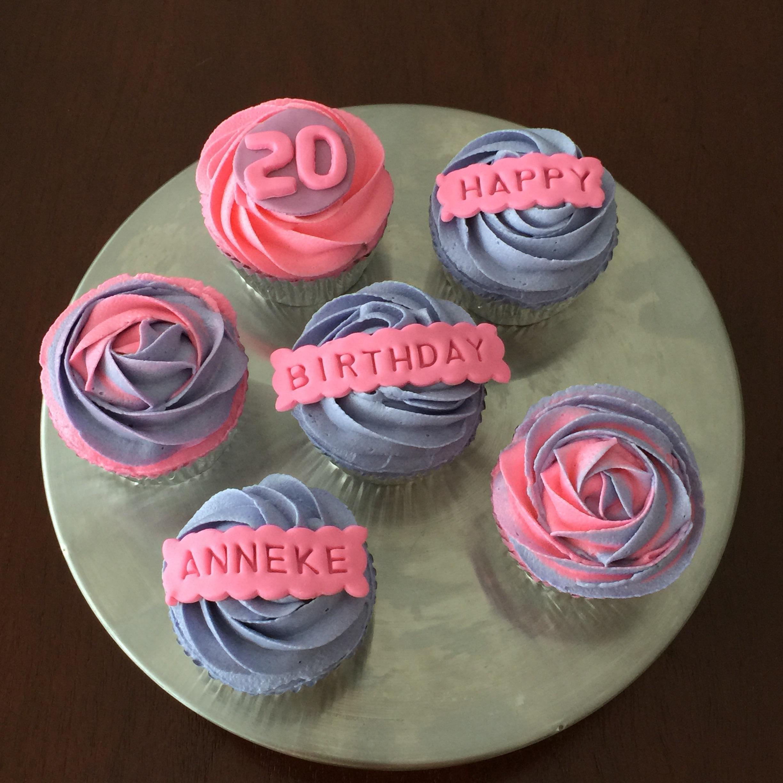 Pink And Purple Cupcake