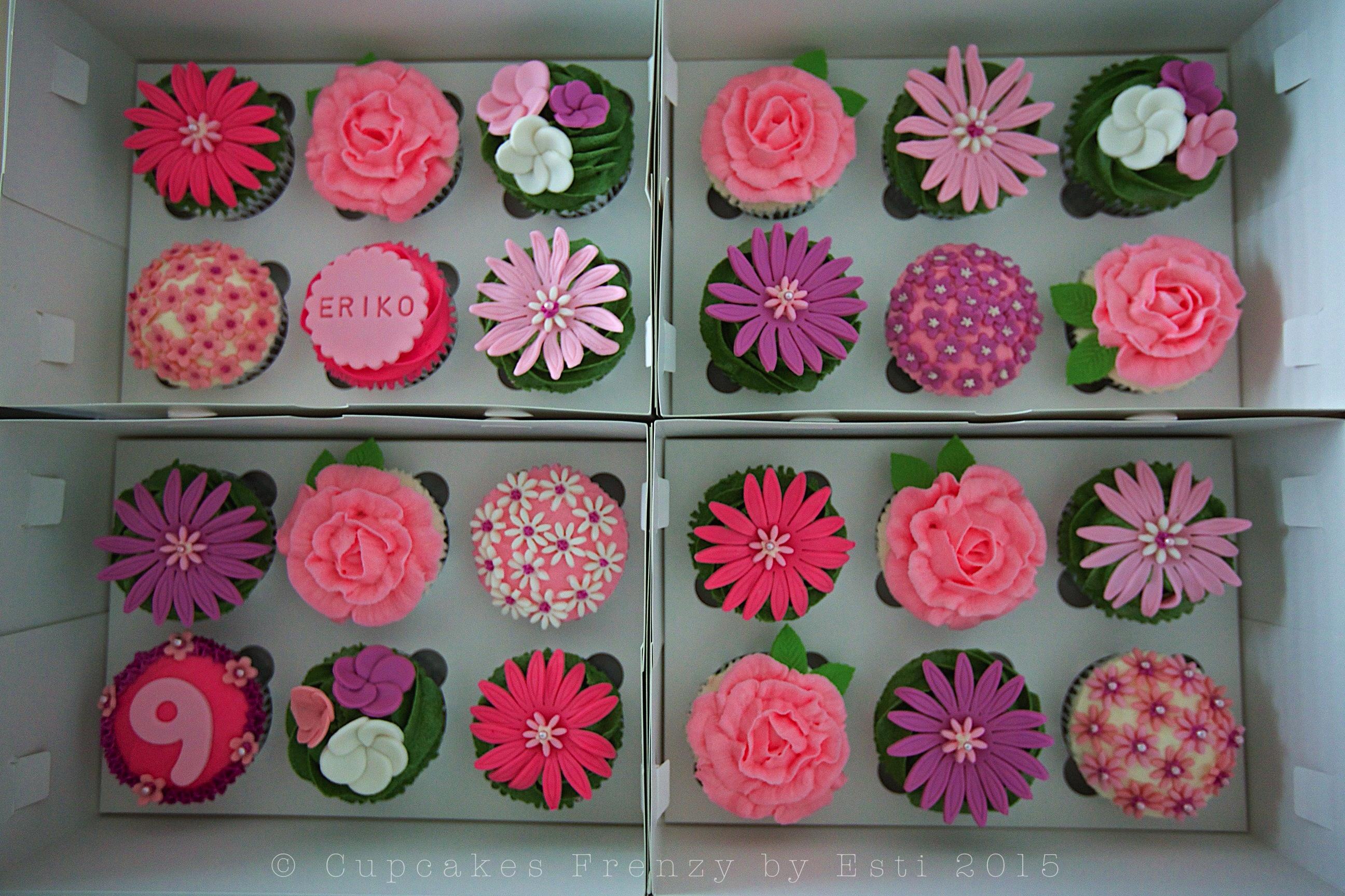 Flower garden cupcakes frenzy flower box izmirmasajfo