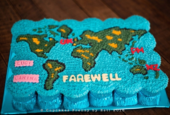 World Map Cupcakes Frenzy